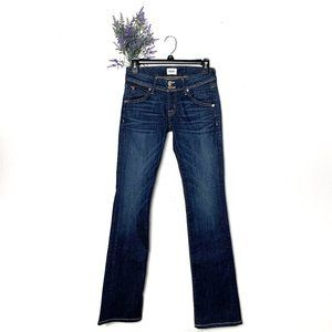 Hudson Beth Mid-Rise Baby Bootcut Jeans Size 24
